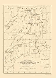 Map Of Tennessee And Georgia by Old Map Alabama Tennessee Georgia Population 1903