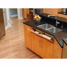 kitchen sink cabinet tray sink front stainless steel tip out tray rev a shelf 6581 series