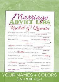 marriage advice mad libs wedding guest book alternative