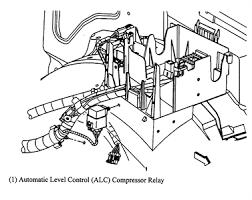 cadillac escalade air suspension escalade 04 relay air suspension compressor fixya