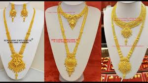 long chain necklace designs images Gold long necklace designs in 40 grams jpg
