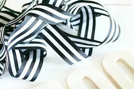 black and white striped ribbon black white wreath