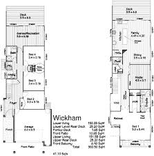 home plans for small lots narrow lot house plan with rear garage narrow lot house plan 056h