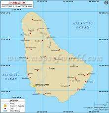 map usa barbados latitude and longitude map