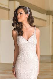 style 8872 beaded fit and flare v neck bridal gown with cowl back