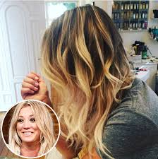 pennys no hair stlye kaley cuoco goes back to penny length lob hairstyle before