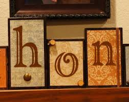 wood block letters etsy