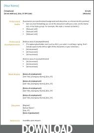 resume format ms word file download resume format in microsoft word office resume template download