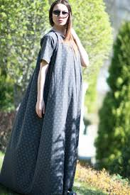 polka dots maxi dress grey trendy plus size evening summer dress