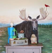 Moose Themed Home Decor by Remodelaholic Camping Tent Bed In A Kid U0027s Woodland Bedroom