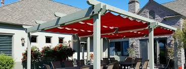 Pergola With Fabric by Retractable Patio Awnings Sunshades Canopies Roman Shades