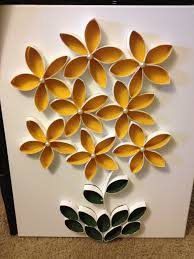 toilet paper roll art make more and it can be a flower garden on