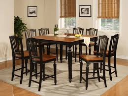 Black And Cherry Wood Dining Chairs Black And Brown Dining Table 84 With Black And Brown Dining Table