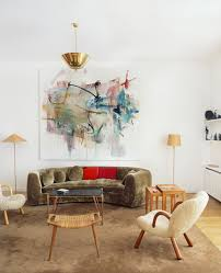 a painting by albert oehlen hangs in the paris apartment of art