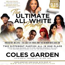 all white party the ultimate all white party at coles garden hosted by mc lyte