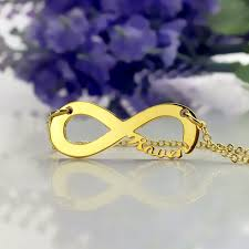 Infinity Name Necklace Solid Gold Infinity Name Necklace