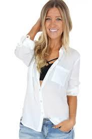 blouse button button blouse white