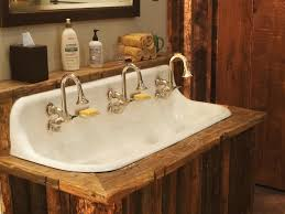 modern rustic bathroom design rustic double vanity reclaimed wood