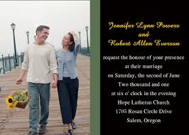 personalized cards wedding unique custom photo western wedding invitations with response