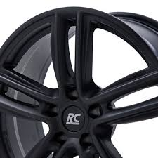 rc design rc27 rc design rc27 felgen schwarz matt lackiert in 15 zoll felgenshop de