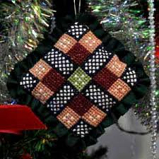 counted cross stitch christmas tree ornament pattern