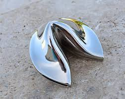 silver fortune cookie gift fortune cookie etsy