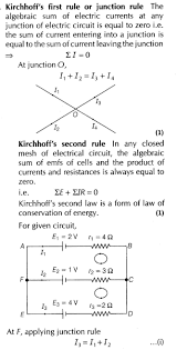important questions for cbse class 12 physics kirchhoff u0027s laws and