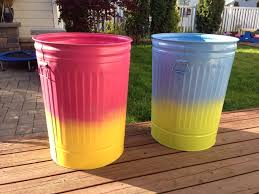 Backyard Garbage Cans by 30 Best Painted Rain Barrel Garbage Cans Images On Pinterest