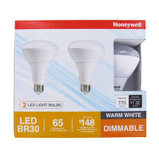 led light bulb 100 watt equivalent honeywell fe0501 01 br30 led light bulb 2 pack honeywell store