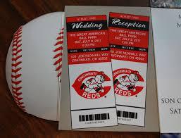 baseball wedding invitations cincinnati reds themed baseball wedding invitation flickr