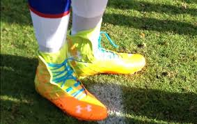 light blue under armour cleats cam newton s unbelievably bright under armour highlight compfit pro