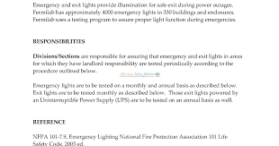 nfpa 101 emergency lighting periodic testing of emergency and exit lights marine notes