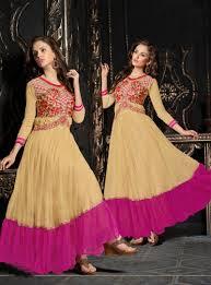 beige net long party wear gown 86718 designer party wear gown