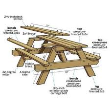 how to build an easy table how to build a picnic table with attached benches picnic tables