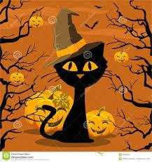 poster halloween cat and pumpkin stock vector image 58556960