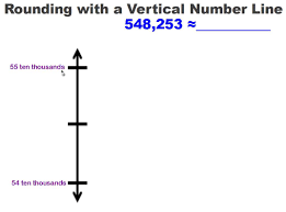 Place Value To Hundred Thousands Worksheets Rounding With A Vertical Number Line Engage Ny Math Common