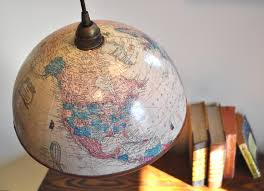 mad for mid century globe lights for a travel themed nursery