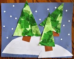 christmas tree winter art i heart crafty things