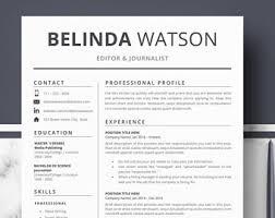 resume template modern resume resume for word cv template
