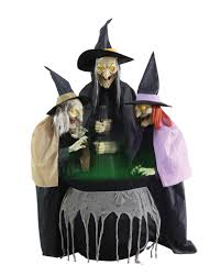 halloween animatronics sale 3 cooking witch sisters halloween animatronic horror shop com