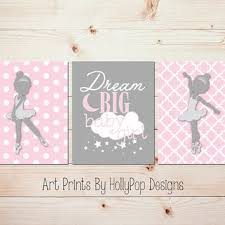 Ballerina Nursery Decor Big Baby Pink Gray Nursery From Hollypop Designs
