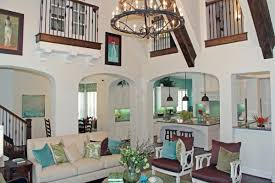 home interior accents stylish interior with turquoise accents by highland homes