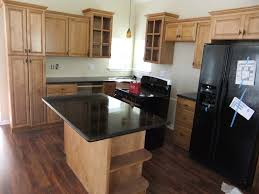 Kitchen Cabinets Refrigerator Surround by Charming U Shaped Kitchen Layout Design With Light Maple Kitchen