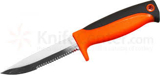 maxam kitchen knives maxam bait knife fixed 3 7 8 combo blade orange and black