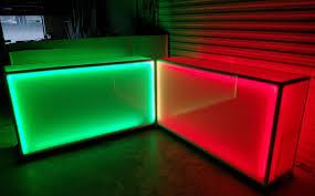 6 foot led light bar light up 6 foot rolling counter led glow bar on wheels