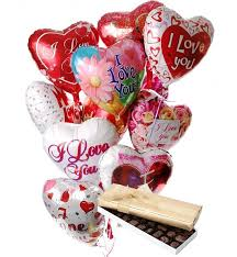 balloons and chocolate delivery balloons chocolate 12 mylar balloons chocolate