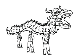 chinese new year dragon mask coloring page throughout shimosoku biz
