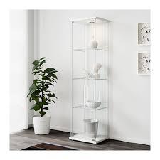 glass cabinet detolf glass door cabinet white 43x163 cm ikea