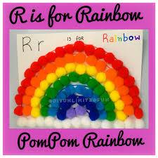 r is for rainbow u2013 pompom rainbow u2013 simple diys u2013 kids activities