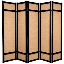 4 panel room divider 6 ft black 4 panel room divider cll 4p blk the home depot